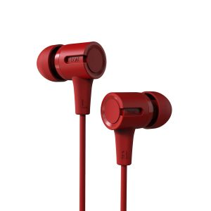boAt BassHeads 102 Wired Earphones with Immersive Audio, Multi-Function Button, in-line Microphone & Perfect Length Cable (Fiery Red)