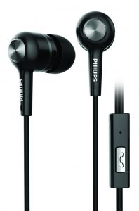 Philips SHE1505BK/94 Upbeat Earphones with Mic (Black): Amazon Deal