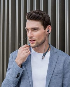 AUKEY Key Series B33 Flexible Wireless Neckband Headset with 8h Playtime and IPX6 Sweatproof- Bluetooth 5 Headphones with Magnetic Play/Pause, 3 EQ Modes, aptX Low Latency, USB-C Fast Charge,