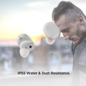 Amazfit PowerBuds True Wireless Earbuds, Heart Rate Tracking, Magnetic Ear Hooks, Environment Noise Cancellation, Hi-Fi Sound, 24 Hrs Total Playtime, Mic, in-Ear Detection (Active White)
